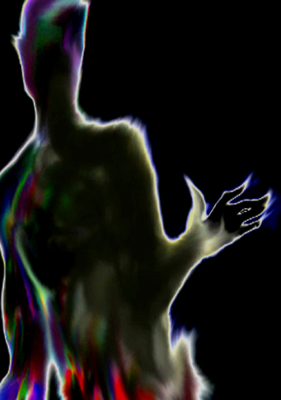 image of a shadow humanoid or demonic presence